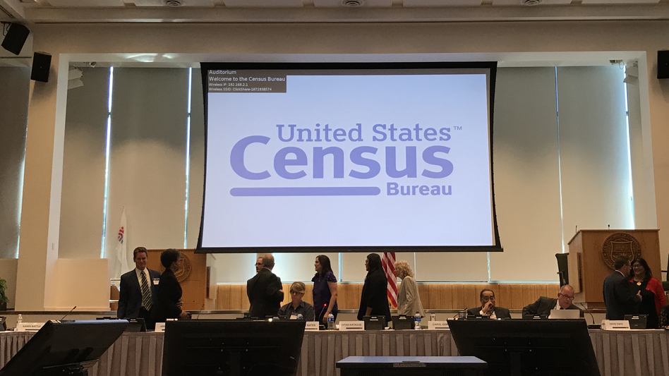 The U.S. Census Bureau holds a public meeting of the National Advisory Committee at the agency's headquarters in Suitland, Md. (Hansi Lo Wang/NPR)