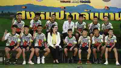 Thai Cave Rescue: Boys And Coach Speak To Press As They Leave Hospital