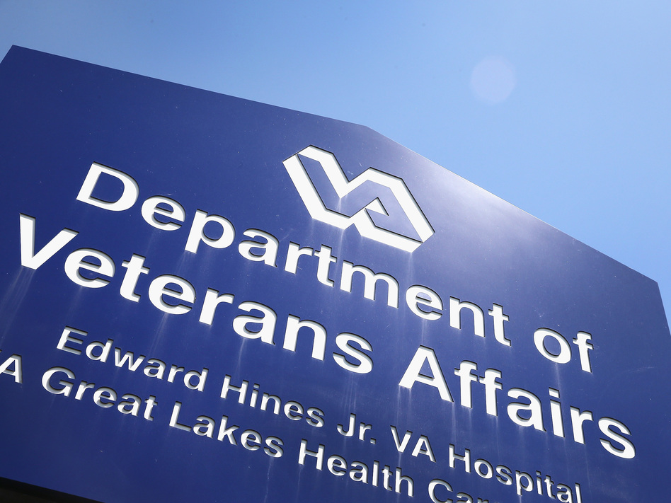 A sign marks the entrance to a VA Hospital in Hines, Ill. (Scott Olson/Getty Images)