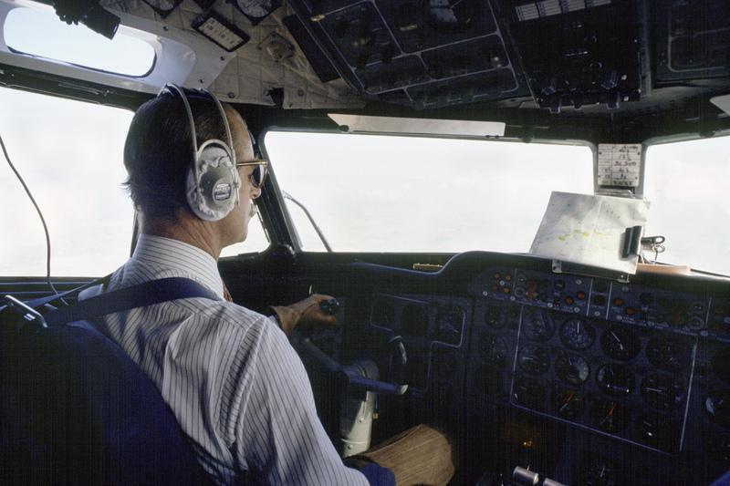 Philip pilots a flight to El Asnam in Algeria circa 1980.