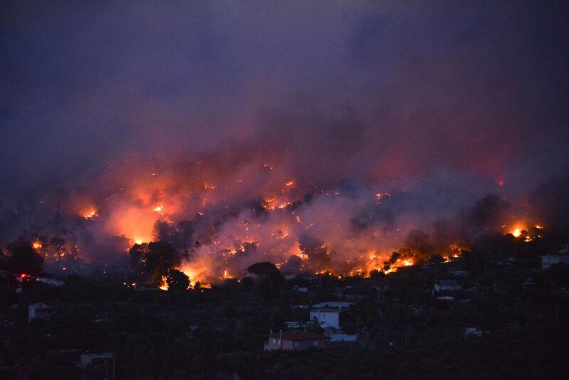 Bildergebnis für wildfire in athens images
