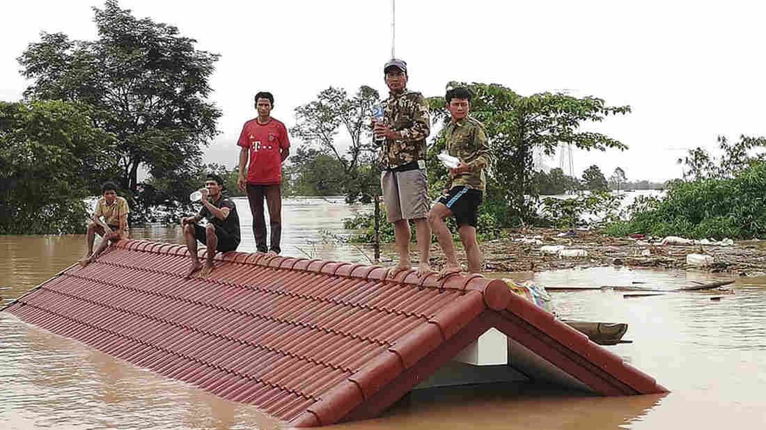 Flooding from Laos hydroelectric dam leaves hundreds missing
