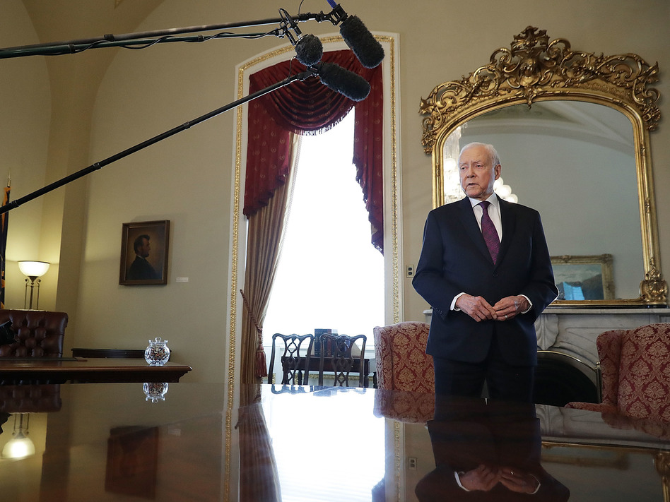 """Sen. Orrin Hatch's social media team offered many examples of """"proof of life"""" on Monday night. (Chip Somodevilla/Getty Images)"""