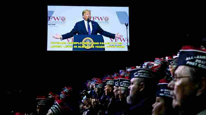 Trump Faces Friendly Crowd At VFW Convention