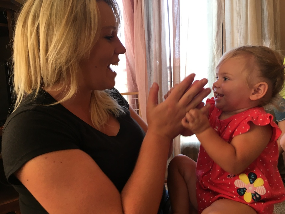 Victoria gave birth to her daughter Lili while in treatment for opioid dependency. (Alex Smith/KCUR)