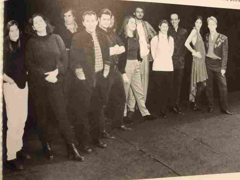 Jana Mestecky (left) poses for a cast photo during production of the play Des rats et des hommes, directed by Israel Horovitz (front, third from left). The photo appeared in the French magazine, L'Avant-Scène, in 1994.