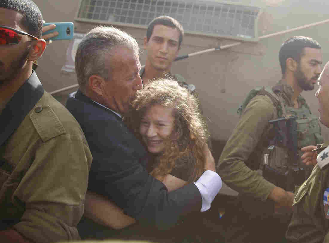 Palestinian protester Ahed Tamimi freed from Israeli prison