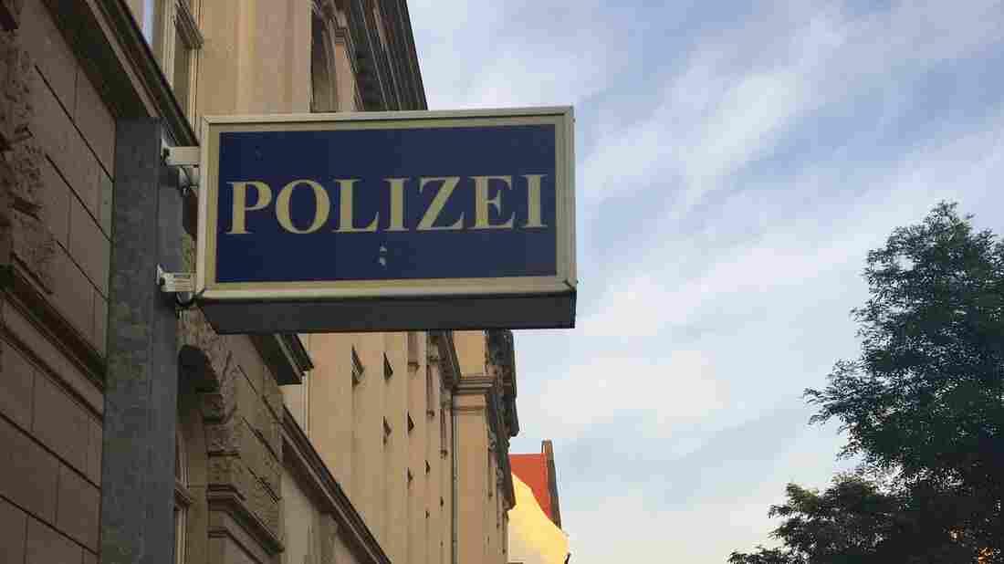 Police station in Chemnitz, Germany.