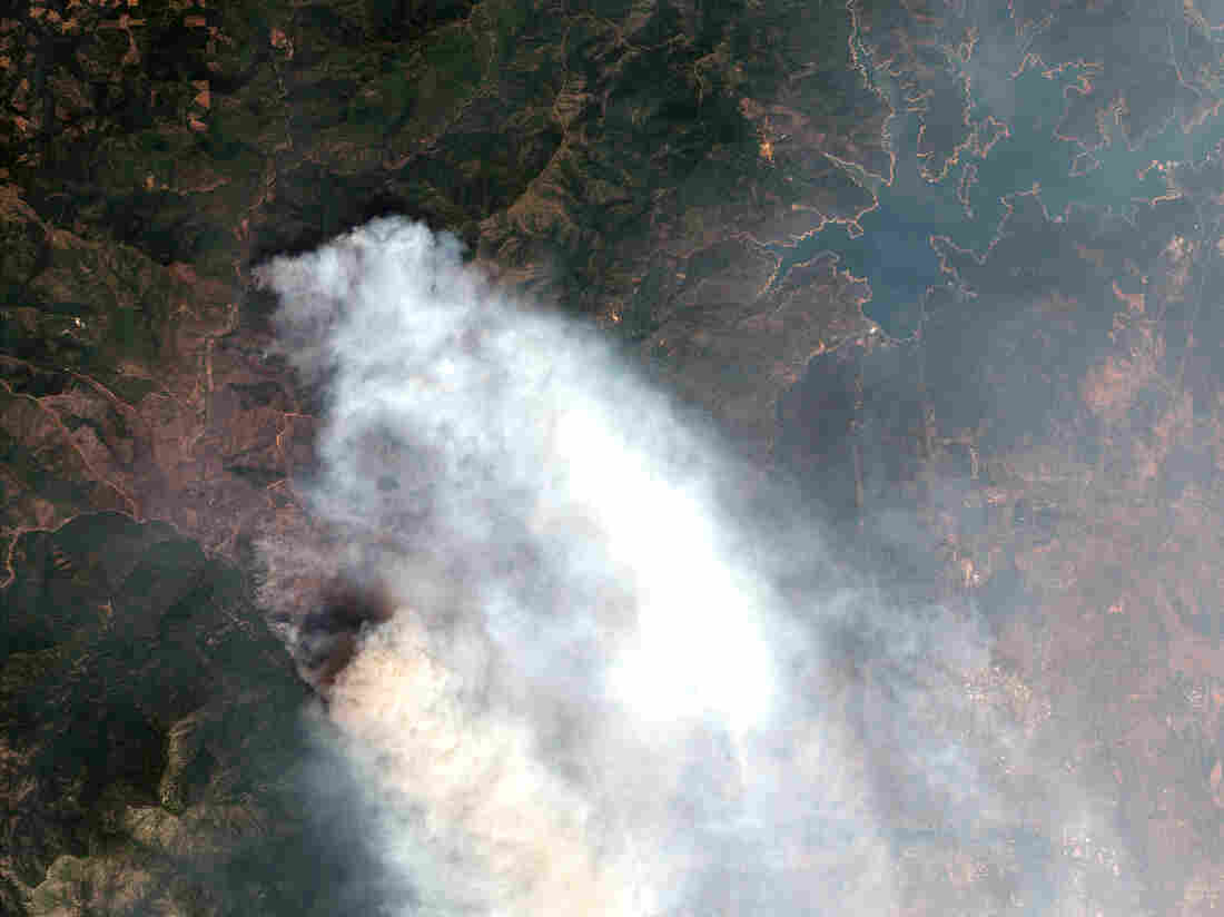 Satellite Footage Shows Rapid Growth of the Deadly Californian Wildfires