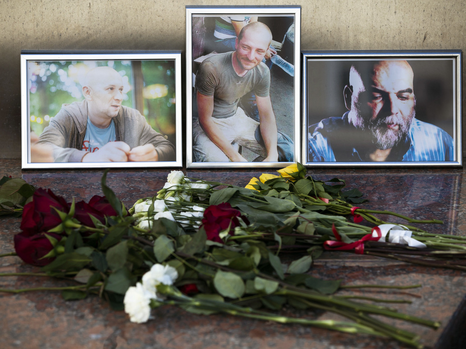 Three Russian journalists were killed in the Central African Republic while investigating Russian private military contractors and mining industries, their editor told media on Wednesday. (Pavel Golovkin/AP)