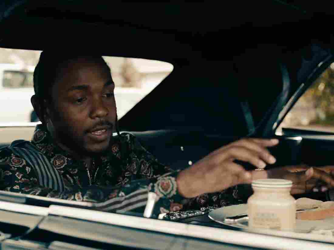 "One recent example of a musician prominently mentioning a brand in a song: Kendrick Lamar with a jar of Grey Poupon in the music video for ""Humble."""