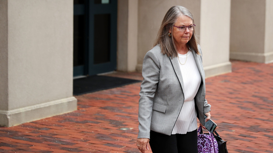 Accountant Cindy Laporta leaves the Justin W. Williams U.S. Attorney's Building at the conclusion of the fourth day of former Trump campaign chairman Paul Manafort's trial Friday in Alexandria, Va. (Chip Somodevilla/Getty Images)