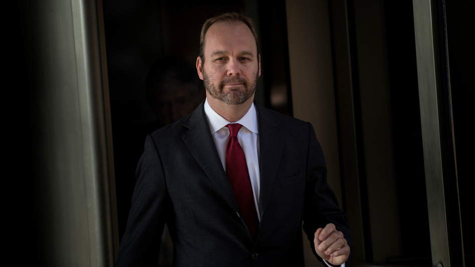 The defense team has accused former Manafort associate Rick Gates of embezzling money and said Gates is cooperating and lying to investigators to cover his tracks. (Brendan Smialowski/AFP/Getty Images)