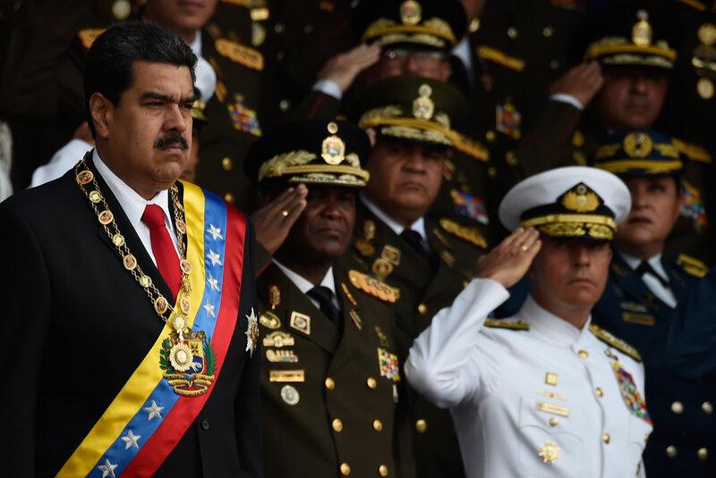 venezuelan officials say president nicolás maduro is unharmed after