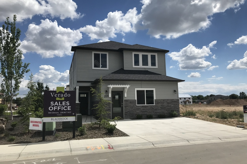 New homes are being built in the suburbs outside Boise, Idaho. The demand for new homes in Boise is nearly 10 times the number that are actually being built. (Kirk Siegler/NPR)