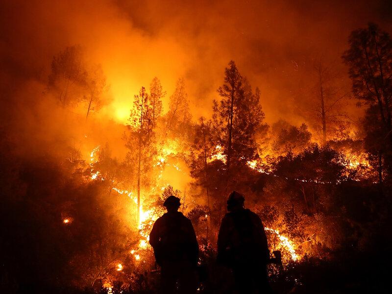 Wildfire Reports Ignite Debate Over Climate Change Coverage : NPR