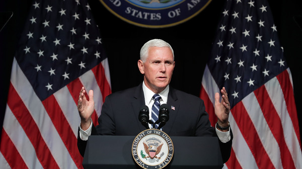 Vice President Pence announces the Trump Administration