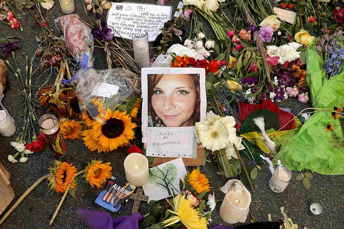 Heather Heyer's mother visits memorial on one-year anniversary of daughter's death