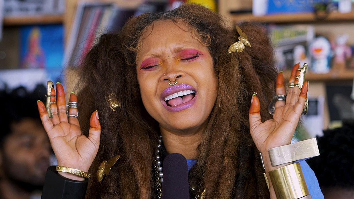 Erykah badu tiny desk concert npr for Erykah badu real tattoos