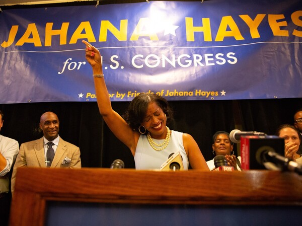 Jahana Hayes, the 2016 National Teacher of the Year, won the Democratic primary in Connecticut's 5th Congressional District.