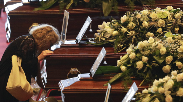 Mourners and heads of state gathered in Genoa, Italy on Saturday for a state-run funeral to honor victims of the highway bridge collapse on Tuesday. The death toll in the disaster rose to 42 on Saturday.