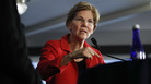 Sen. Elizabeth Warren, D-Mass., speaks Tuesday at the National Press Club in Washington, where she delivered a speech on the need for stronger laws limiting corruption. It's an argument against the Trump administration that could be used if she runs against the president in 2020.