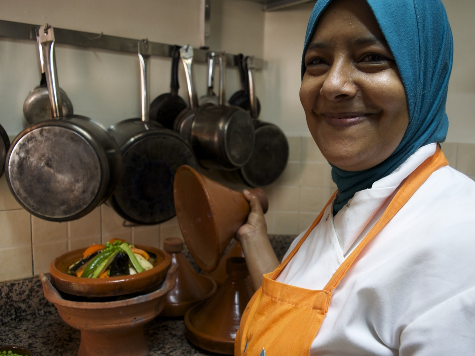 Jamila Aamer is the head chef at the Amal Women's Training Center. To date, she's trained more than 100 students.