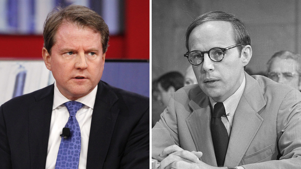 White House counsel Don McGahn (left) reportedly spent 30 hours talking to the team investigating Russian interference in U.S. elections. Another White House special counsel, John Dean, became a witness against President Nixon 45 years ago.