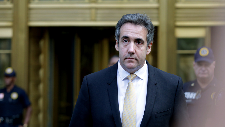 Michael Cohen, former lawyer to President Trump, leaves the federal courthouse Tuesday in New York City. (Yana Paskova/Getty Images)