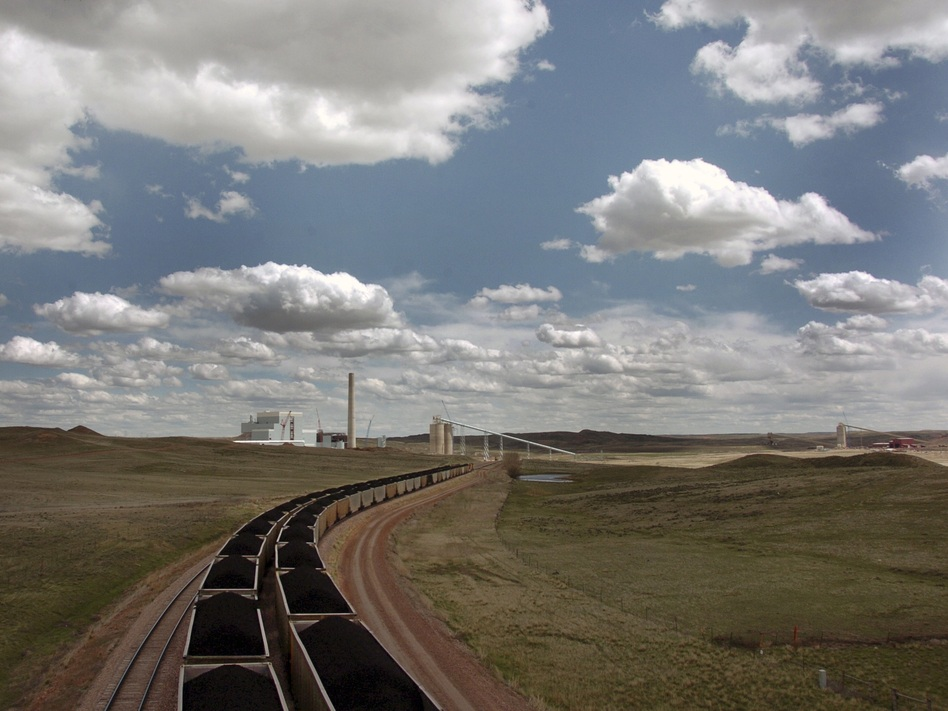 The Dry Fork Station coal-fired power plant in Gillette, Wyo., supplies electricity across the West. (Matthew Brown/AP)