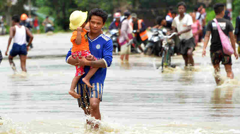 After Dam Failure, Thousands Flee In Myanmar