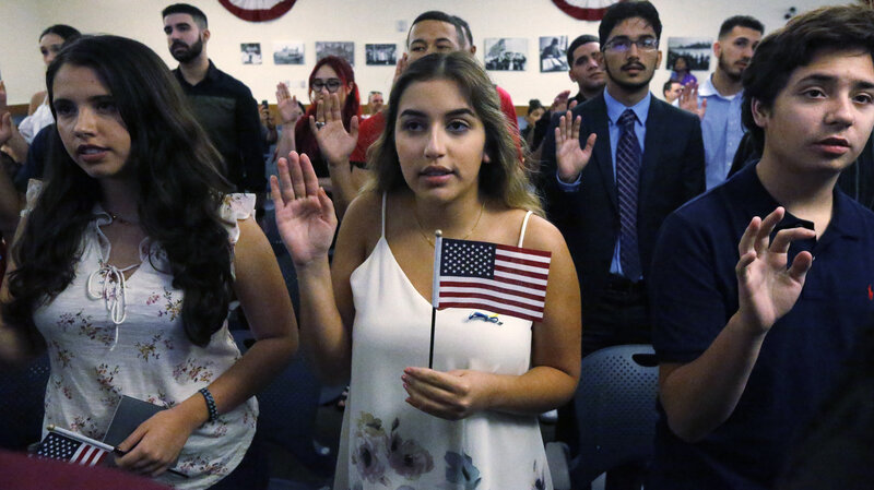 The Wait To Become A U S  Citizen Lengthens : NPR