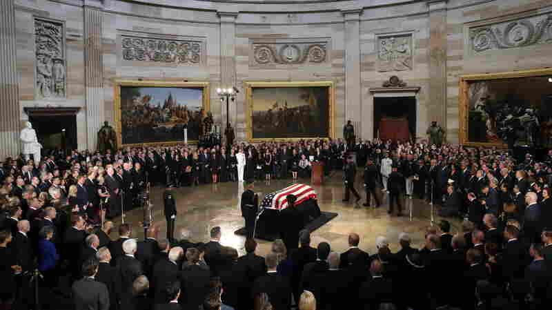 McCain Makes A Final Return To Washington For Rare Honors
