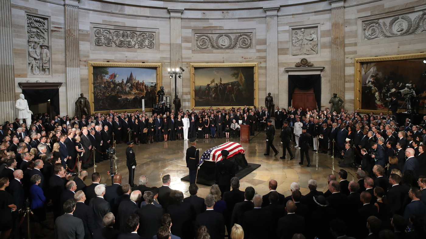 McCain Makes A Final Return To Washington For Rare Honors