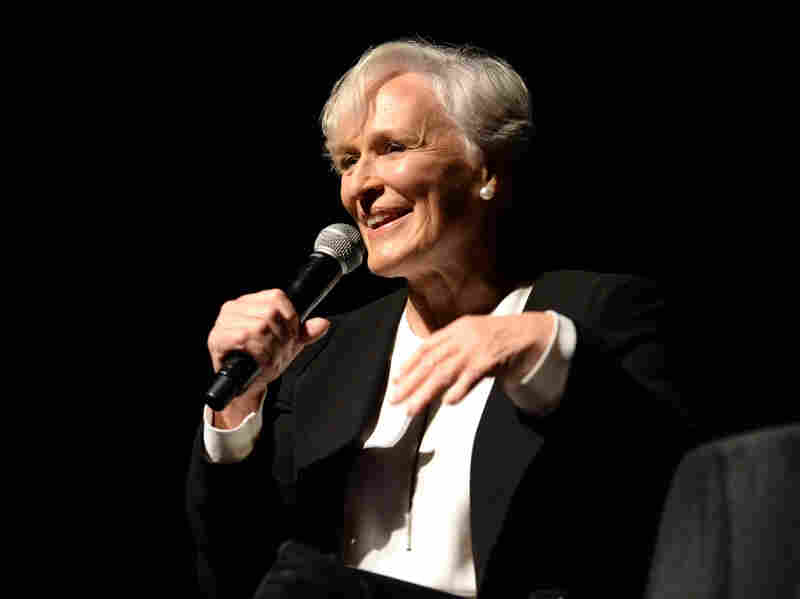 Glenn Close speaks onstage during The 2017 New Yorker Festival in New York City.