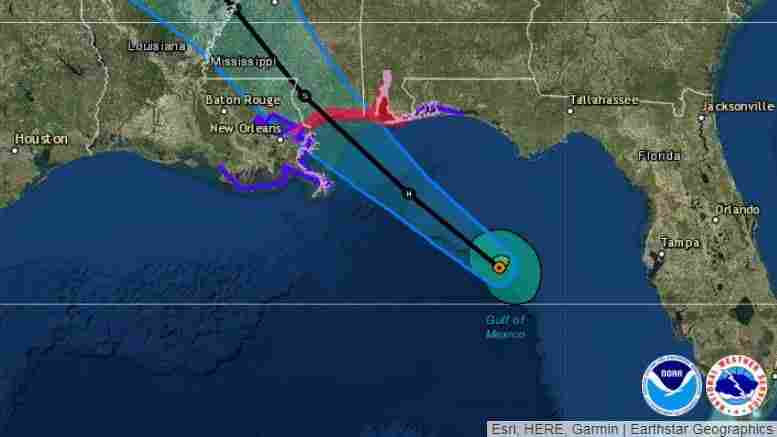 Strengthening Gordon has sight set on MS  landfall this evening