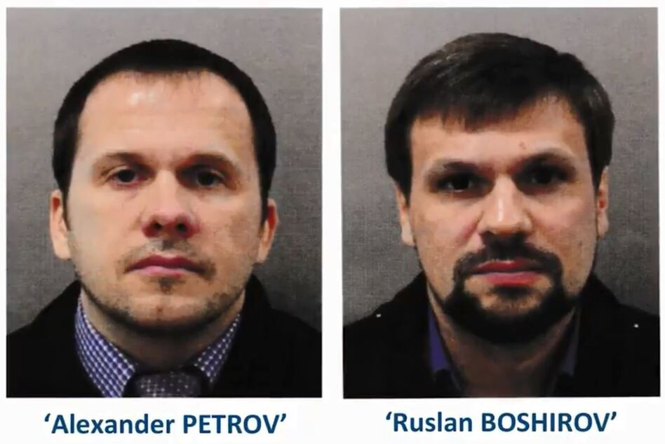 """Two Russian men are accused of attempting to kill former KGB agent Sergei Skripal on March 4 — the same day they flew to Moscow. """"We have no evidence that they re-entered the U.K. after that date,"""" says Assistant Commissioner Neil Basu of the U.K.'s counterterrorism force. (U.K. Metropolitan Police)"""
