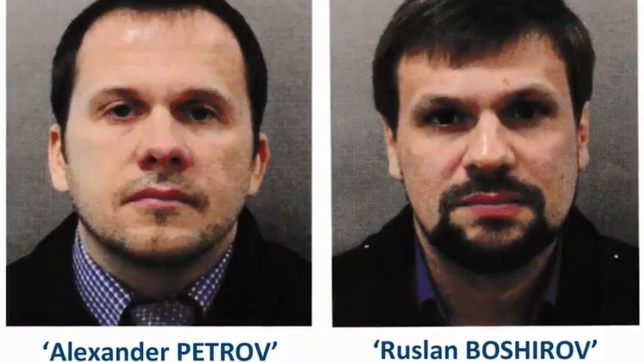 Two Russian nationals identified as suspected Salisbury nerve agent attackers