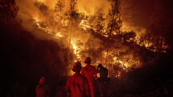 Firefighters work on the Ranch Fire, part of the Mendocino Complex Fire on Aug. 7. On Thursday Cal Fire asked state lawmakers for an additional $234 million in funding to continue battling wildfires through the end of the year.