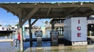 Coco Marina, a gas station near Louisiana Universities Marine Consortium, flooded during high tides ahead of Hurricane Nate last year.