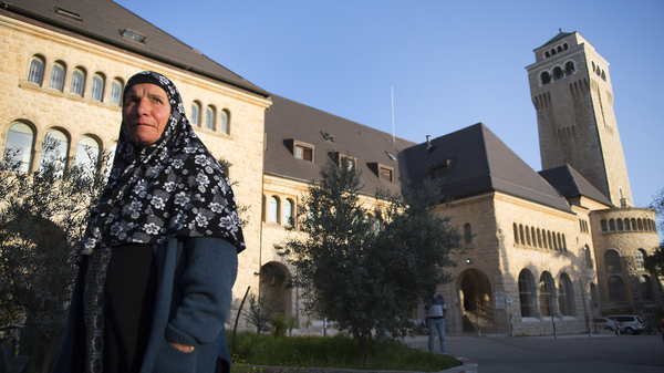 Augusta Victoria Hospital in Jerusalem, seen in 2017, is one of the facilities expected to be affected by a cut in U.S. aid to Palestinians.