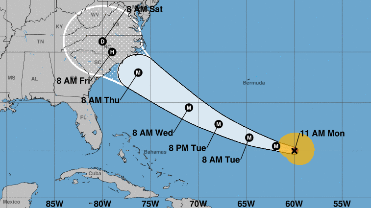 Florence Cone Wide Hurricane Spins  Category Patru Storm