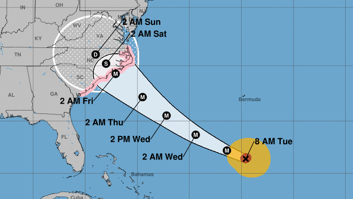 Millions braced as 'staggering' hurricane nears U.S.  east coast