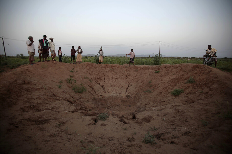 In the air campaign by Saudi Arabia and its allies against Yemen's Shiite rebels, rights experts say there has been a pattern by the Saudi-led coalition of failing to distinguish between civilian and military targets and disregarding the likelihood of civilian casualties. (Hani Mohammed/AP)