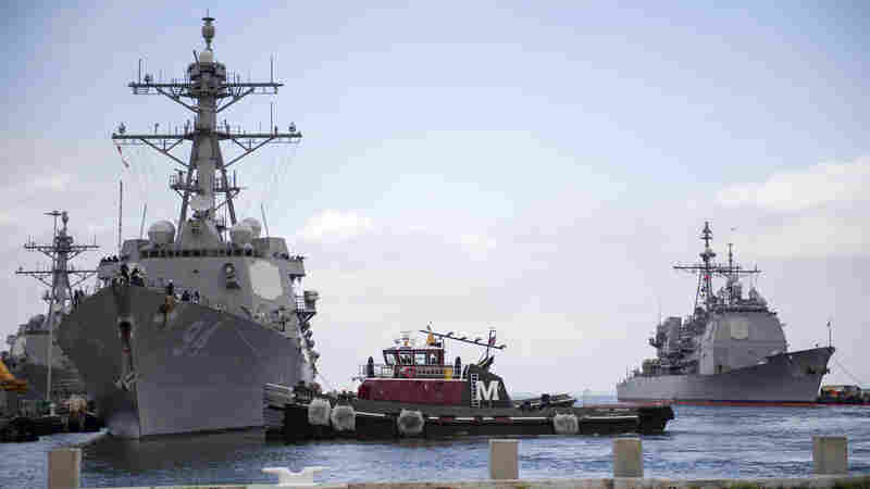 U.S. Navy Sends Ships Out To Sea Ahead Of Hurricane Florence