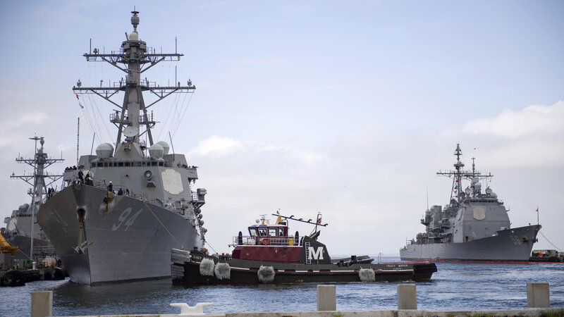 U S  Navy Sends Ships Out To Sea Ahead Of Hurricane Florence : NPR