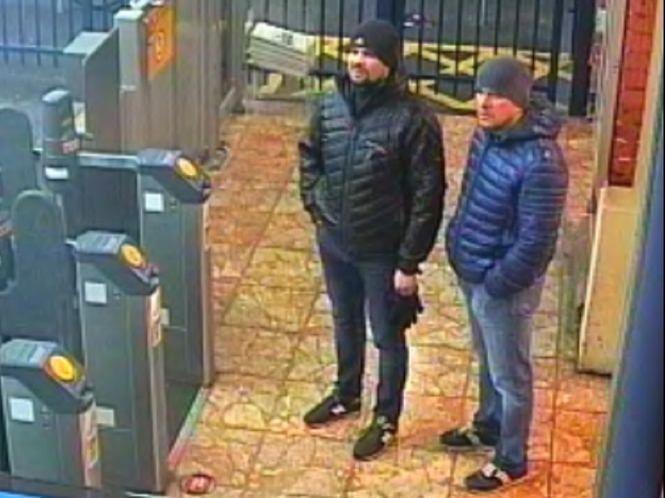 Russian President Vladimir Putin says two men identified by British police as suspects in the poisoning of a former KGB agent and his daughter are private citizens, not government agents. Scotland Yard released photos of the men last week. (U.K. Metropolitan Police)