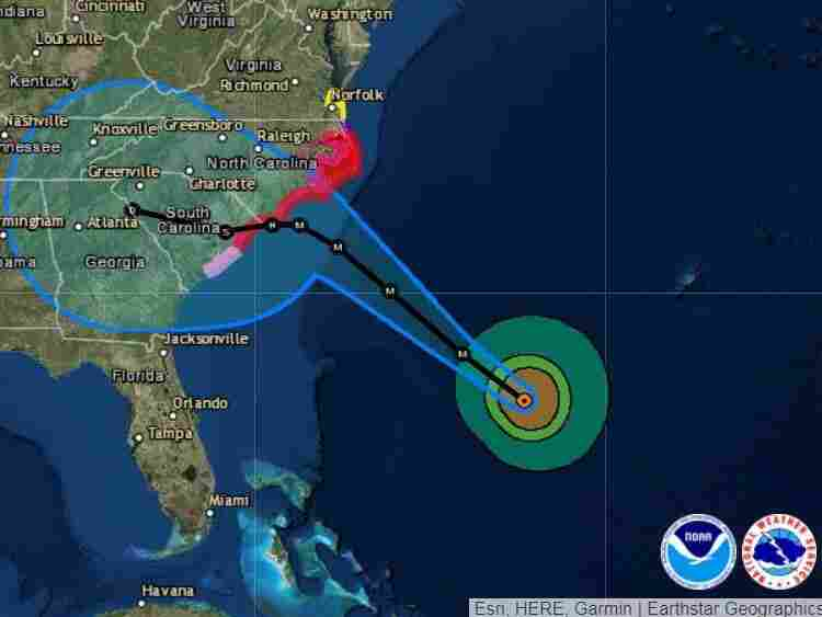 Hurricane Florence Zeroes In On Carolinas, Bringing 130 MPH Winds