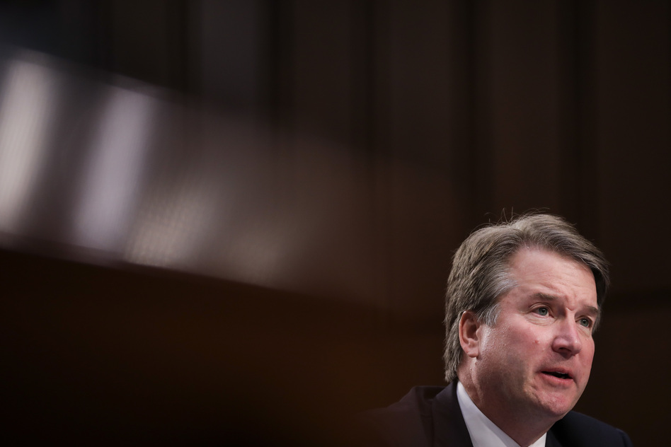 Supreme Court nominee Brett Kavanaugh testifies before the Senate Judiciary Committee during his confirmation hearing Sept. 6. (Drew Angerer/Getty Images)