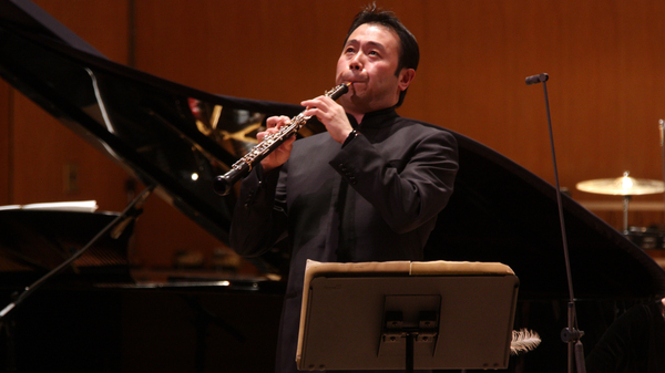 Liang Wang, playing with the New York Philharmonic at New York